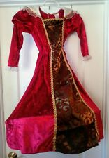 QUEEN Classy Red Gold Vampire Costume Dress Hoop Target Skirt Size Medium 6-8
