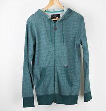 Amplify Men's Full Zip Hoodie - Green Heathered - Large