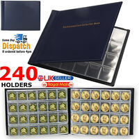 240 Coin Book Album Penny Money Storage Case Folder Holder Collection Collecting