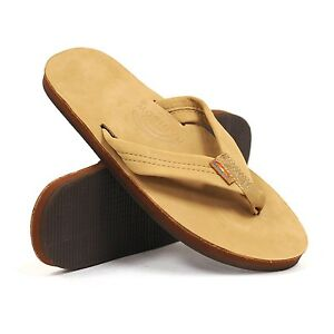 Rainbow Sandals 301ALTS Sierra Brown Single Layer Flip Flop Mens sizes S-XXXL!!