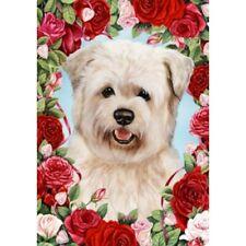 Roses House Flag - Wheaten Glen of Imaal Terrier 19215