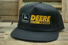 Vintage JOHN DEERE POWER SnapBack Trucker Hat Cap K PRODUCTS Made In USA