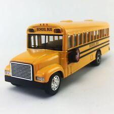 """KINSFUN DISPLAY 6.5"""" SCHOOL BUS DIECAST CAR PULL BACK ACTION DOOR OPEN KS6501D"""