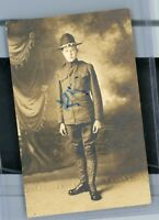 Rppc Postcard Man US Cavalry Dress Uniform ? Ranger Military WWI Real Photo