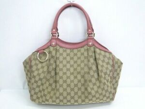 Auth GUCCI GG Sukey Hand Tote Bag 211944 Canvas Leather Italy 94170092800 2