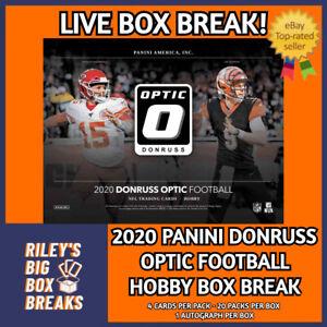 🔥🏈 2020 DONRUSS OPTIC FOOTBALL HOBBY BOX BREAK #112 - PICK YOUR OWN TEAM! 🔥🏈