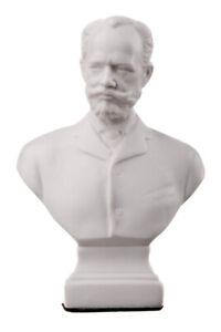Russian Composer Pyotr Tchaikovsky Marble Bust Statue Sculpture 13 cm white