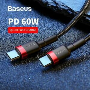 Baseus USB Type C to USB-C Cable QC3.0 60W PD Quick Charge Cable Fast Charging