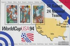 USA Block33 (kompl.Ausg.) postfrisch 1994 Fussball WM