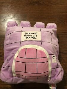 Happy Nappers Pillow Pink And Purple/White Castle Unicorn Size Medium (14-24in)