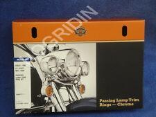 Harley touring softail front light bar passing light trim rings visors 69622-99b
