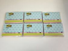 6 Lot Post It Notes Pad 39 X 28 Blue Designer Cover Pink Notes 75pad