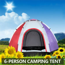 5-6 Person Camping Tent Waterproof Ultraviolet-proof Instant Set up Hiking Dome