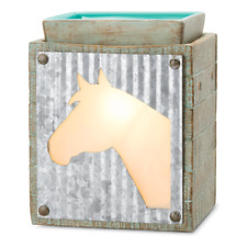 Scentsy Unbridled Element Wax Plug in Warmer Horse Theme Western Decor NEW