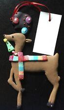 NWT Clay Dough Christmas Reindeer Raindeer Holiday Keepsake Winter Ornament