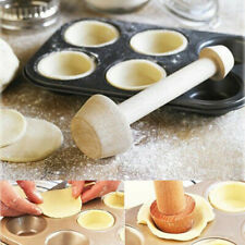 DIY Egg Tart-Tamper Double Side Wooden Pastry Pusher Cake Baking Shaping Kitchen