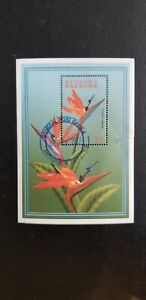 Antigua & Barbuda 1997 Flowers $6 MS CANCELLED - Difficult to find. See descr.