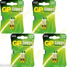 8x AAAA GP SUPER Batteries MN2500 1.5V E96 LR8D425 Alkaline battery 4 X 2 packs