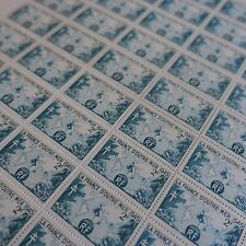 FEUILLE SHEET TIMBRE LA FRANCE D'OUTRE MER N°741 x50 1945 NEUF ** LUXE MNH