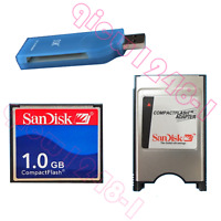 1GB CNC CF Compact Flash card+CF-PCMCIA Adapter+SSK USB2.0 Card reader FANUC