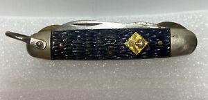 Vintage Imperial PROV RI USA CUB Scout Knife ~Brass Logo