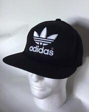 Black White Adidas Original Snapback Cap Hat Trefoil Logo Adjustable Free Post