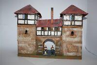 Stadttor mit 2 Türmen, 2708, zu 7cm Aufstellfiguren, Fertigmodell in Composite
