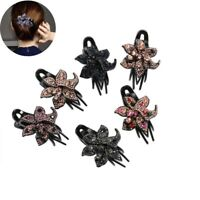 Hair Hairpin Women's Crystal Pins Accessories Grips Clips Flower Slide Comb