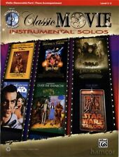 Classic Movie Instrumental Solos Violin Sheet Music Book with Play-Along CD Film