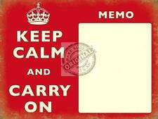 KEEP CALM CARRY ON VINTAGE RETRO MEMO BOARD LARGE STEEL WALL MAGNETIC MARKER PEN