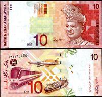 MALAYSIA 10 RINGGIT 2001 P 42 d UNC