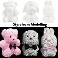 Modelling Polystyrene Styrofoam Foam Bear Dog Rabbit Craft Ball Party Decor Gift
