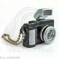 Black Digital Camera Light 1:6 for Barbie Blythe Doll's House Miniature Key Ring