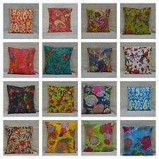 Kantha Cushion Cover Indian Decorative Pillow Cases Ethnic Throw Sofa Decor Boho