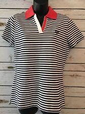 BROOKS BROTHERS Women's Size Medium M Striped Polo Top Tennis