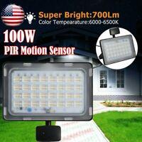 100W LED Floodlight PIR Motion Sensor Outdoor Garden Patio Security Flood Light