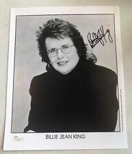 Billie Jean King Tennis Signed Autographed World Teamtennis 8x10 Photo JSA COA