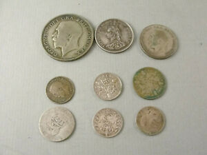 Small Group English Silver COINS. Victorian & Later