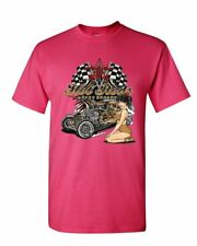 Hot Rods and Sexy Broads T-Shirt Route 66 US Classic Muscle Cars Mens Tee Shirt