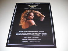 Beyonce Grammy Nominated with Spirit from Lion King 2019 Promo Poster Ad mint