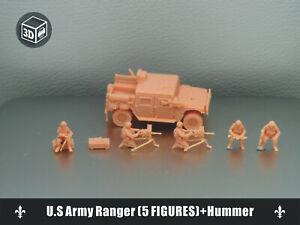 1/144 U.S Army Ranger (5 FIGURES)+Hummer -Fine version 3D