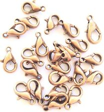 12 Copper Small Lobster Clasps