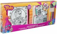 Job Lot 12x Dreamworks Trolls 3 Pack Colour Your Own Bag Set