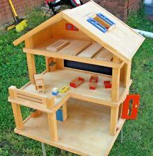 Plan Toys Wood Dollhouse, Terrace, Fridge, Toaster, Sofa, Chairs, Furniture Lot