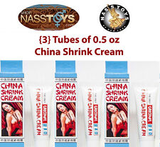 Original China Shrink Cream 3-Pack, Vaginal Muscle Tightening 0.5oz ea. NassToys
