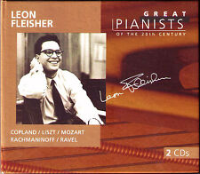 Leon FLEISHER: GREAT PIANISTS OF THE 20TH CENTURY 2CD Copland Liszt Ravel Weber