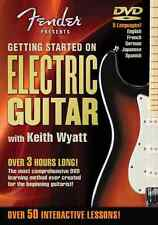 GETTING STARTED FENDER ELECTRIC GUITAR BEGINNER LESSON DVD *NEW*