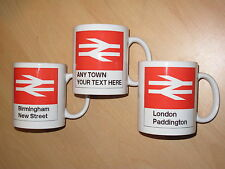 Personalised Railway Station Mug / Customised Train Cup | British Rail | Gift