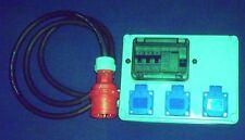 Stromverteiler,Adapter 16A auf 3xSchuko mit Fi-Schalter