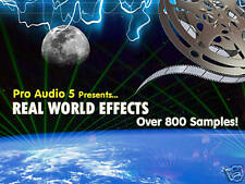 REAL WORLD - SOUND EFFECTS - FX SAMPLE CD .wav  -  Over 800 Samples